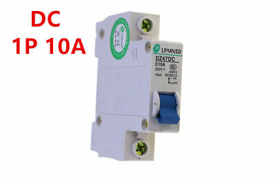 DC 1P 10A  250V Photovoltaic solar DC circuit breaker  air switch