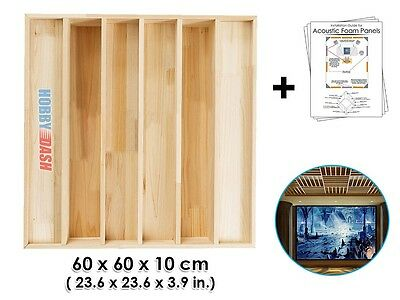 New Wood Acoustic Diffuser Soundproofing Panel 23.6 x 23.6 x 3.9 inches KK1096