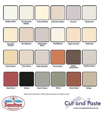 Sandtex Smooth Exterior Masonry Paint Tester 150ml, 23 Colours, CHEAP