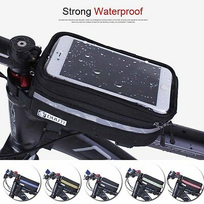Bike Bag Cycling Waterproof Frame Phone Case Reflective Mobile Bar Bicycle Mount