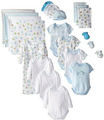 Spasik Baby Essential Layette 23-Piece Matching Gift Set 100Percent Cotton Comfy