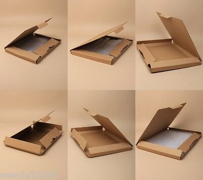 Pack Of Natural Brown Card Mailing Boxes, Packing Supplies, Flat Packed