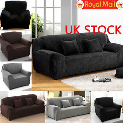 Universal 1 2 3 Seater Easy Fit Stretch Elastic Slip Sofa Armchair Couch Cover