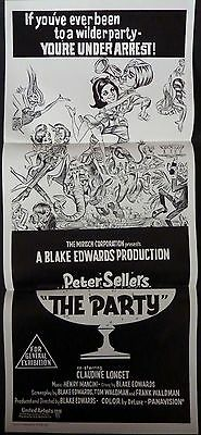 The Party 1968 Original  Re Release Daybill Poster Peter Sellers Blake Edwards