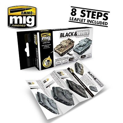 AMMO OF MIG BLACK & WHITE TECHNIQUE SET Cod.AMIG7128