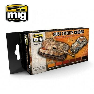AMMO OF MIG EARLY RUST EFFECTS COLORS SET Cod.AMIG7106