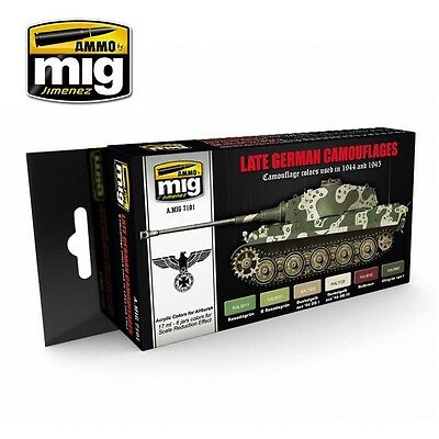 AMMO OF MIG LATE GERMAN CAMOUFLAGES SET Cod.AMIG7101
