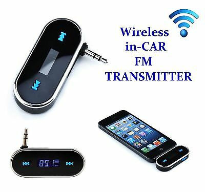 inCar FM Transmitter Modulator Music from Mobile to Car Radio Wireless Gift Idea
