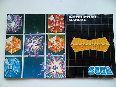 SEGA MEGA DRIVE Columns  MANUAL INSTRUCTIONS