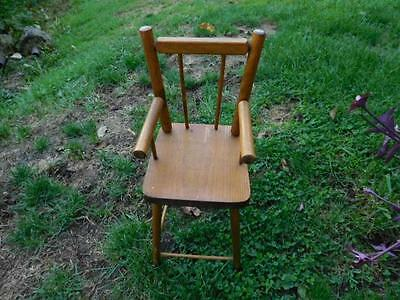 Vintage Antique All Wood Youth High Chair Primitive Rustic Doll Or Bear