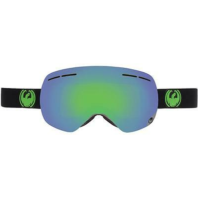 Dragon X1S 3 Goggles Goggles Jet Green Ion + Yellow Blue Ion