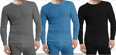 2 Pairs Mens Thermal Full Sleeve Shirt Warm Winter Work Ski Wear Underwear Top