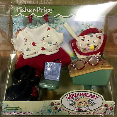 New Fisher-Price BRIARBERRY Back-To-School OUTFIT w/ DESK BackPack BOOK Glasses