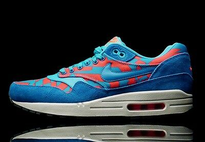 Details about Nike Air Max 1 GPX, Blue Lagoon Bright Crimson, Suede, DS Size 9.5