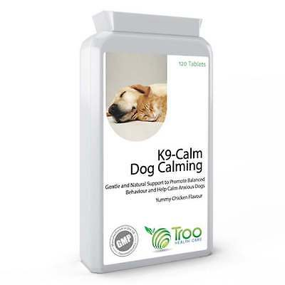 K9-Calm Dog Calming 120 Chicken Flavour Tablets Help for Anxiety & Hyperactivity