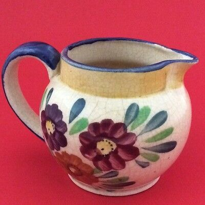 Japan Hand Painted Floral Cream Pitcher Pottery