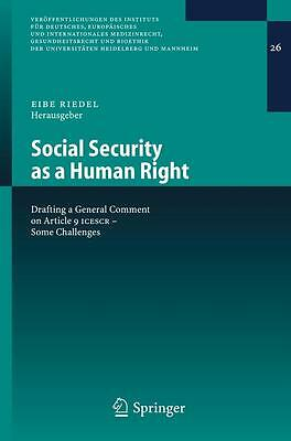 Social Security as a Human Right Eibe H. Riedel