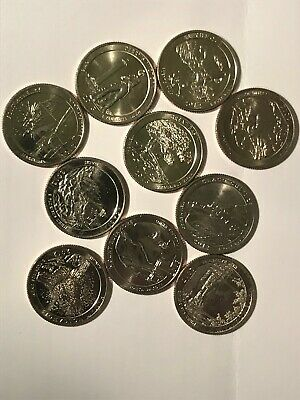 2012 S & 2013 S AMERICA the BEAUTIFUL QUARTERS (10 coins) Uncirculated Clad