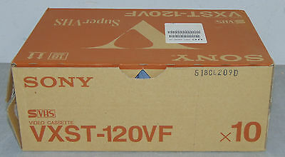 Lot of 10 Sealed Sony VXST-120VF S-VHS Blank Video Tape ST-120 Quantity Availble