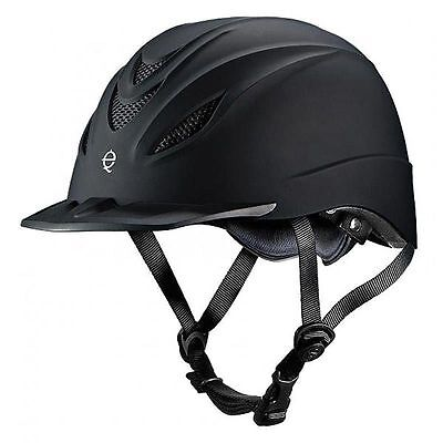 Troxel Intrepid Black English And Western Riding Safety Low Profile Helmet S M