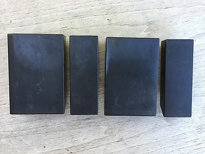 HAMMOND ORGAN H100 H-100 Black Bakelite Cheek Blocks SET w/ screws