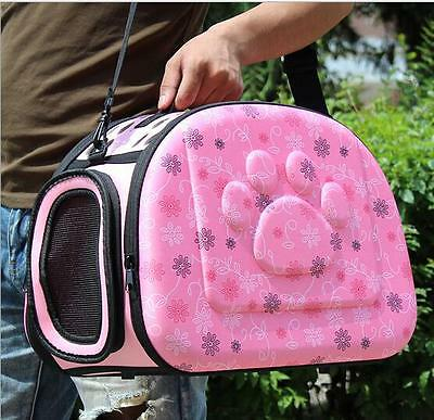 Pet Small Dog Cat Sided Carrier Travel Tote Shoulder Bag Cage Portable