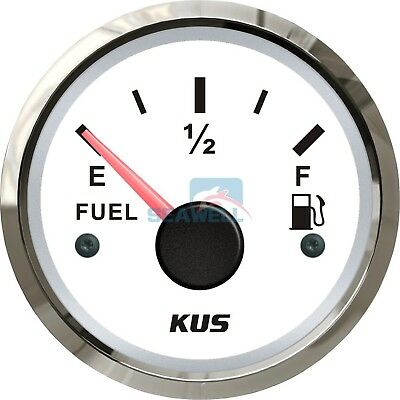 KUS Marine Fuel Tank Gauge Boat Oil Tank Level Indicator 12/24V 52mm 240-33ohms