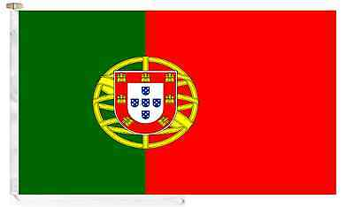Portugal Roped & Toggled 5' x 3' Courtesy Boat Flag