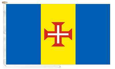 Portugal Madeira Roped & Toggled 5' x 3' Courtesy Boat Flag