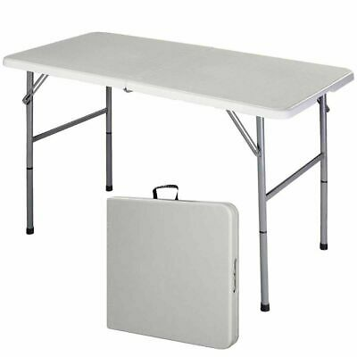 4' Folding Portable Table Indoor Outdoor Picnic Party Dining Camp Tables Utility
