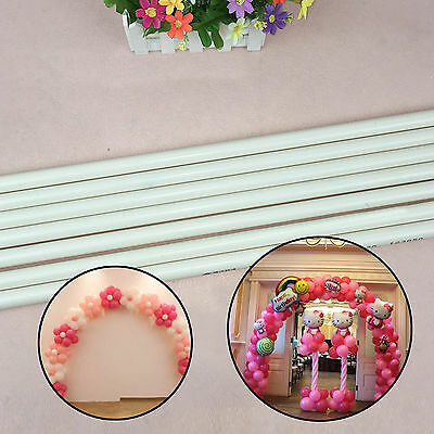 PVC 4pcs White Poles&Connector For Balloon Arch Column Base Stand Wedding Supply