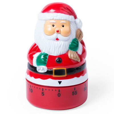 60 Minute Kitchen Egg Timer / Alarm Count Up Down Cooking Baking Christmas Santa