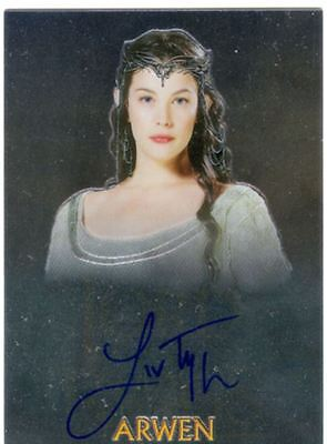 Lord Of The Rings Chrome Trilogy Autograph Card Liv Tyler As Arwen