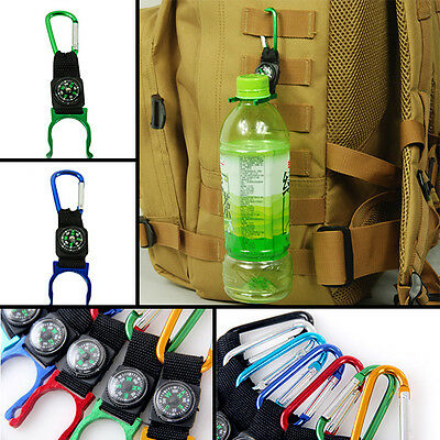 Buckle compass color Random Camping Carabiner bottle Mountaineering utility