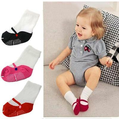 New Hot Anti-Slip Socks Booties Toddler Newborn Baby Ballet Shape 0-2 Year Old