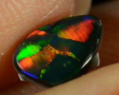 Black Opal Australian natural solid 0.40ct EXTREMELY BRIGHT MAGNIFICENT GEMSTONE