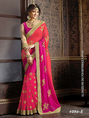 Indian Designer Pink Codding Sari, Bollywood Sari, Asian Wedding Party Wear Sari
