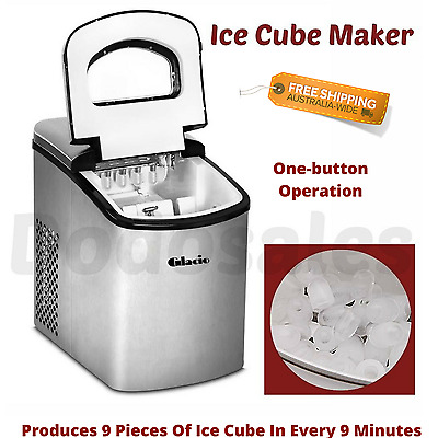 Ice Cube Machine Ice Maker Portable Bench Top Party Office Home Quiet LED Contro