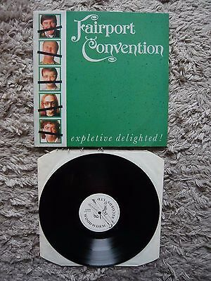 Fairport Convention Expletive Deleted UK Woodworm 1986 Vinyl Record Folk Rock