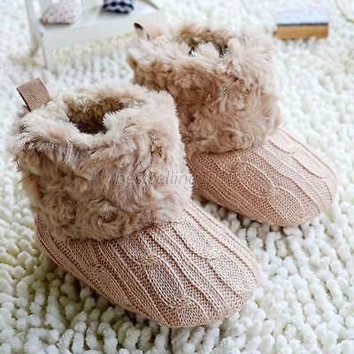 Newborn Baby Boy Girl Snow Boots Infant Toddler Crib Shoes Prewalker Size 0-18M