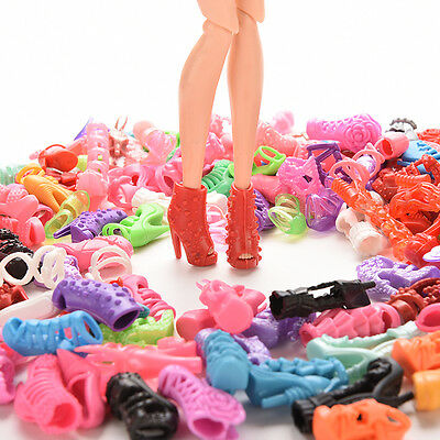 30X 15Pair High Heel Sandals Shoes For Barbie Doll Toy Princess Dress Clothes FT