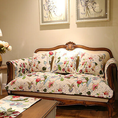 1 PC Shabby American Country Sofa Couch Slip Cover Mat/Throw Rug/Floor Runner
