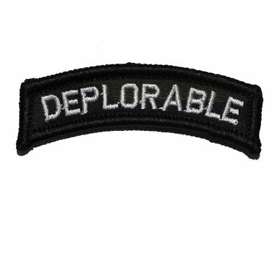Deplorable Tab Political Military/Morale Funny Patch with Hook and Fastener