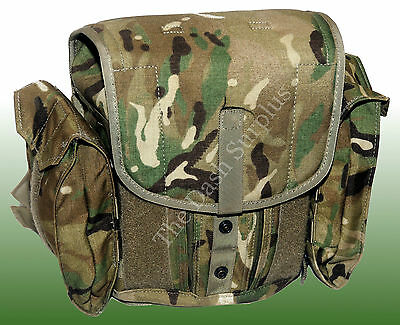 British MTP Camo Field Pack Army Bag Military Surplus Respirator Case