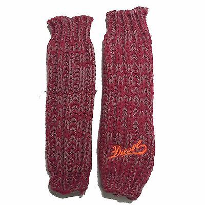 Girls Diesel Leg Warmers Winter Knitted Ziby Pink Age 7-14 Years NEW