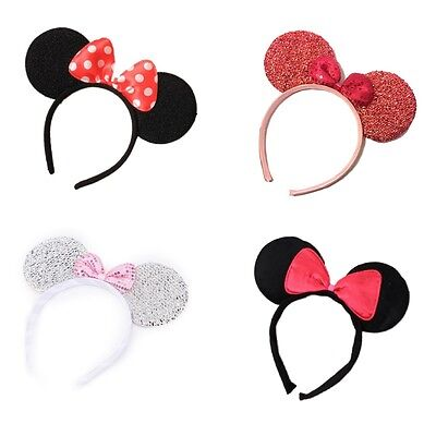 Minnie Mouse Ears Alice Hair Band Headband Various Designs Fancy Dress Party Hen