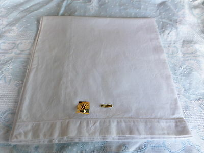 French Bolster Quality 100% COTTON pillow case Vintage & unused  with labels