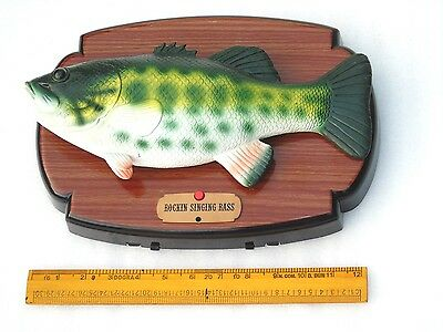 Large 12 Inch Moving Singing Rainbow Trout Sea Water Lake Fish Displayed On Wood
