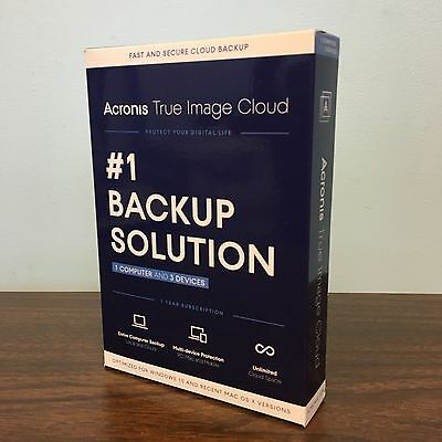 Acronis True Image Cloud - 1 PC or Mac + 3 Devices - BRAND NEW!
