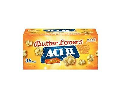 S3215-Act II Microwave Popcorn, Butter Lovers, 2.75 oz, 36 ct
